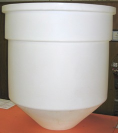 Open Top Cone Bottom Polypropylene Tank